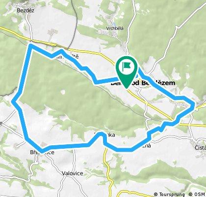 lehká trasa v okolí Bělé pod Bezdězem - Hlínoviště - Březovice - Březinka - Plužná - Bělá p.B.