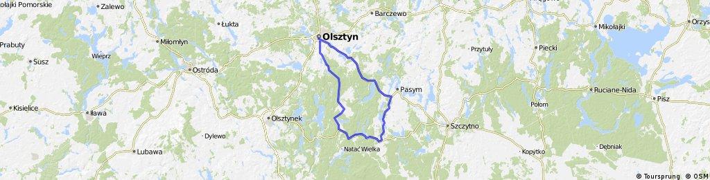 Olsztyn-Pasym-Jedwabno-Butryny-Olsztyn