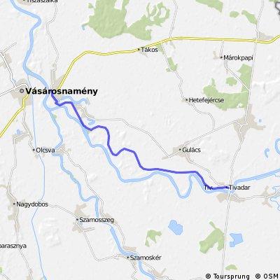 Gergelyiugornya-Tivadar töltés kerékpárút