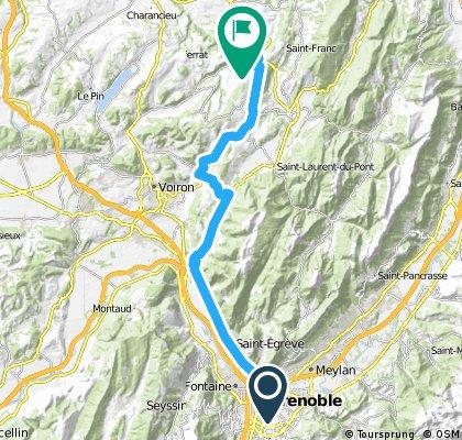 Grenoble St Martin de V par le col de la Placette