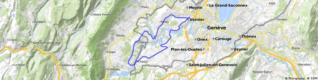 Vernier - Cartigny - Chancy - Challex - Dardagny - Satigny - Vernier