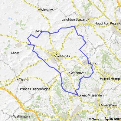 50 mile route through North Bucks