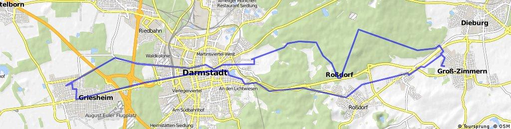 Griesheim - Groß-Zimmern und zurück