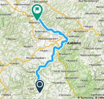 Blankenrath - Waldbröl - Koblenz (1.Etappe)