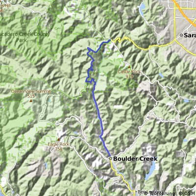 Low-Key Hillclimb: Boulder Creek to Saratoga Gap