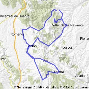 Herrera-Badules-Olalla-Fonfría-Cucalón-Villar de los Navarros-Virgen de Herrera-Herrera.