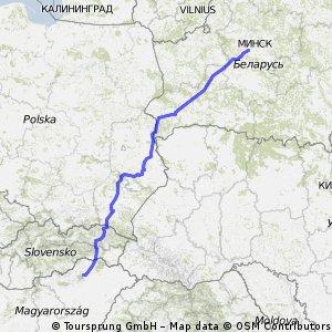 Мишкольц-Минск (на автомобиле)