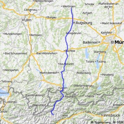 Herbertshofen nach Gramais ins Lechtal (Rennrad)