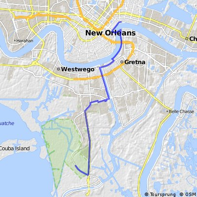 Cycling routes and bike maps in and around New Orleans | Bikemap ...