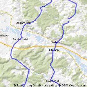 Heilige Länder über Maintal in den Steigerwald