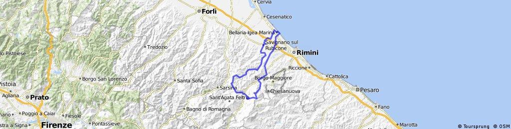 Igea Marina-Ponte Uso-Novalfetria-San Leo