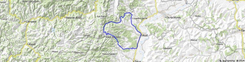 Aiud - Lopadea(Veche) - Rachis - Valea Inzelului -  Ramet - Geomal - Garbova - Aiud