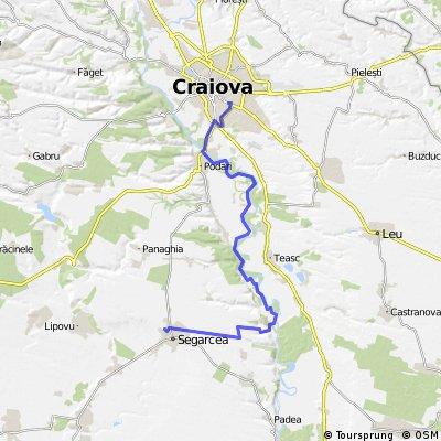 Craiova - Segarcea pe malul Jiului