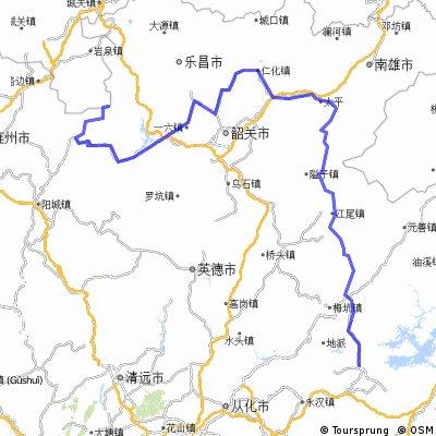 粤北五日游:龙门-翁源-始兴县-丹霞山-乳源-称架-第一峰