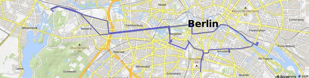 Ruhleben bis Ostbahnhof-Tempelhofer Flughafen-Ruhleben