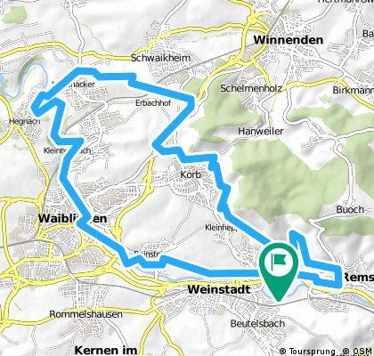Remstal Weinberge Remshalden - Waiblingen