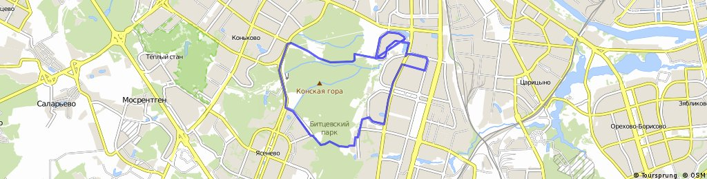 Чертаново-Ясенево-Битцевский лесопарк-Северное чертаново(2 круга)-Чертаново