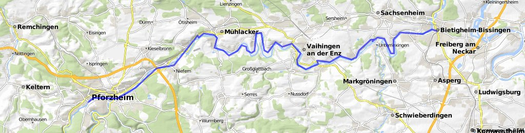 Enztal - Radweg Pforzheim - Bietigheim