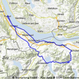 Thalwil - Sihlsee - Sattelegg - Lachen - Thalwil CLONED FROM ROUTE 182271