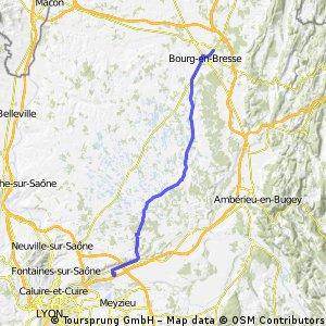 2012 French Tour -- Ride Day 32 -- 17 September 2012 -- Bourg-en-Bresse to Beynost (Lyon)