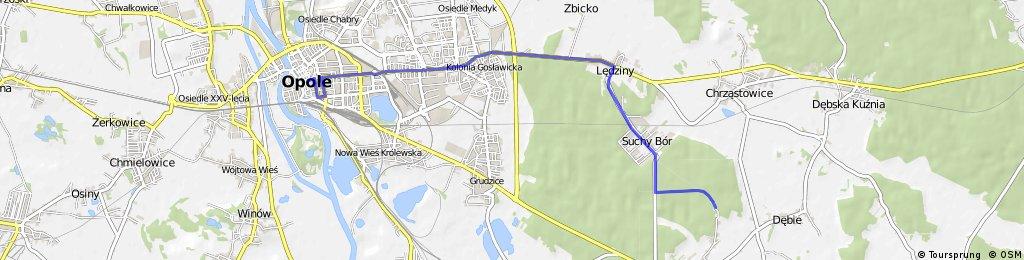 Trasa rowerowa Opole- Falmirowice