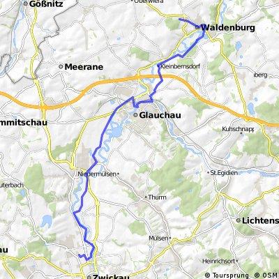 3. Tour Waldenburg-Zwickau und zurück