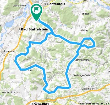 Höhenmeter im Fränkischen Jura