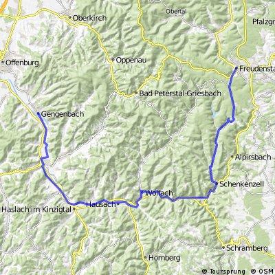 Kinzigtalradweg Freudenstadt - Gengenbach