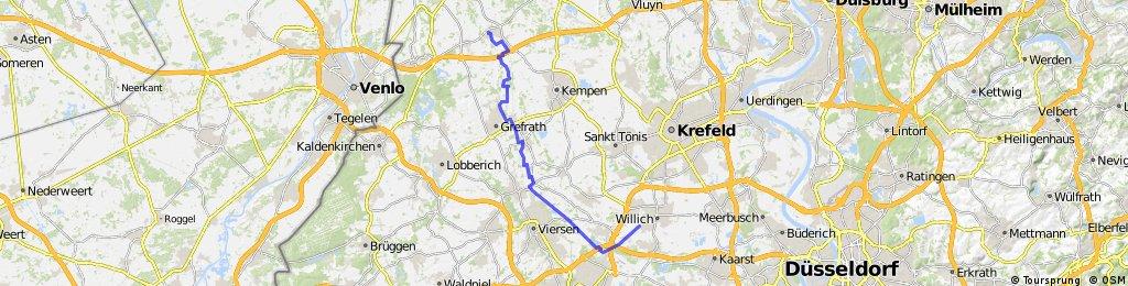 Niersradweg Teil 1 Willich - Wachtendonk