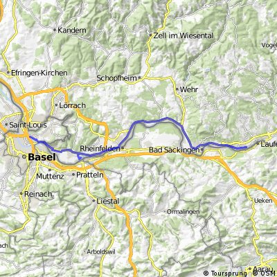 1. Etappe: Basel - Laufenburg Alpen 2012