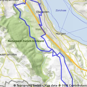 Rundfahrt Thalwil -Horgenberg-Gattikon-Thalwil