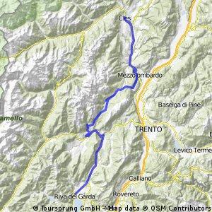 CTL 6. Etappe Transalp Cles - Riva