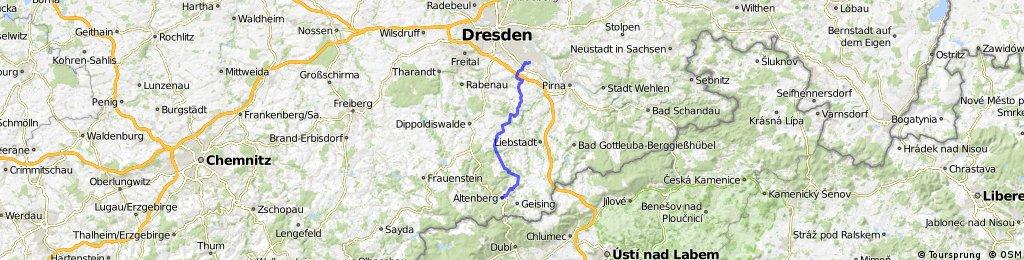 von Altenberg nach Dresden