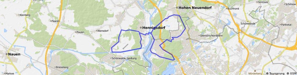 90 Minuten: Rundfahrt ab Frohnau
