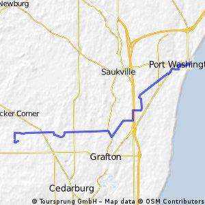 Cedarburg to Port Washington
