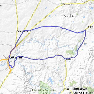 Gawler Wheelers-ROUTE47C-Gawler-Lyndoch-Tanunda-Gomersal-Gawler-UNDULATING