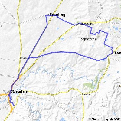Gawler Wheelers-ROUTE58C-Gawler-Gomersal-Tanunda-Seppeltsfield-Freeling-Gawler-UNDULATING