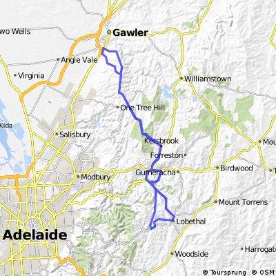 Gawler Wheelers-ROUTE61C-Gawler-Kersbrook-Cudlee Creek-Lobethal-Lenswood-Cudlee Creek-Kersbrook-Gawler-HILLS