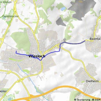Schulweg von Baiertal zum Schulzentrum Wiesloch