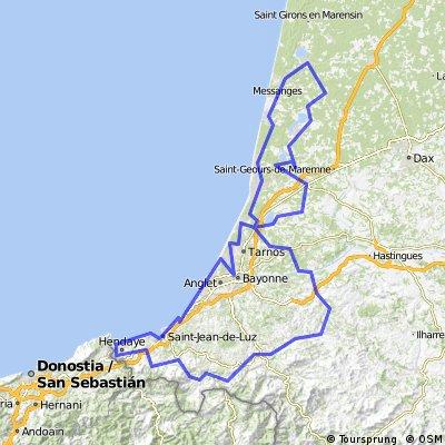Hendaye France Map.Hendaye Santander Bikemap Your Bike Routes