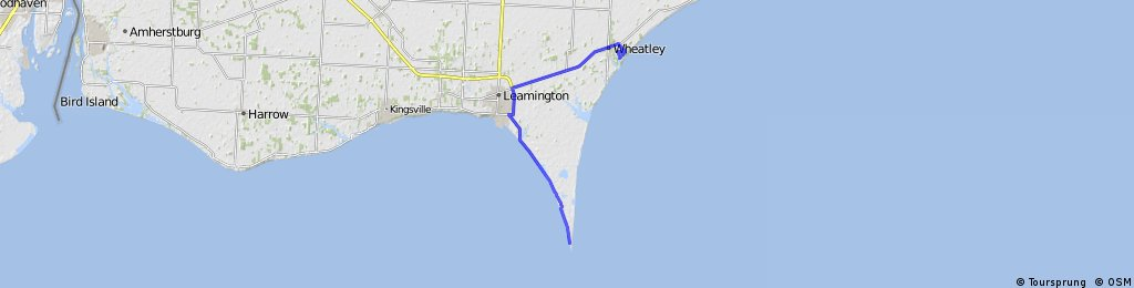 Wheatley to Point Pelee