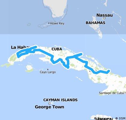 Cuba Gesamtroute