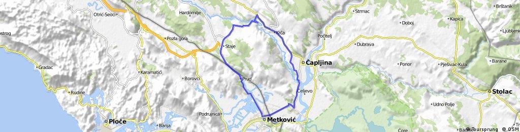 Čapljina - Stubica - Metković - Čapljina