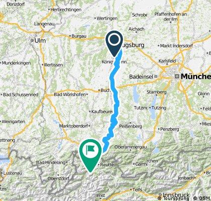 Augsburg-Landsberg-Schongau-Fuessen