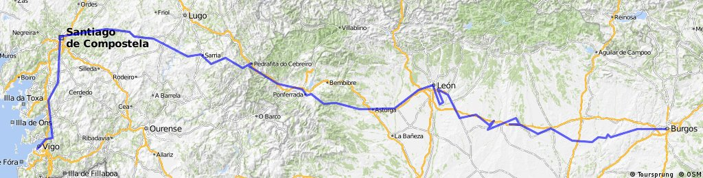"Camino frances""Burgos - SANTIAGO DE COMPOSTELA"""