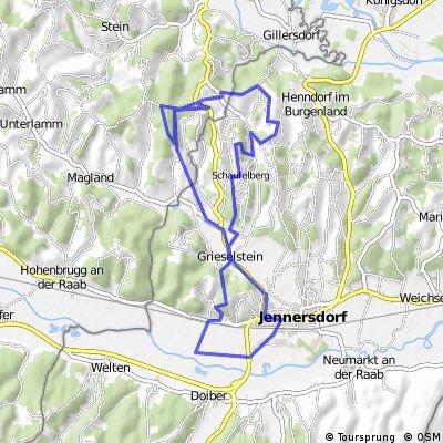 Tafelberg - Loipersdorf Runde + Radmarathon Strecke - MTB