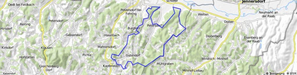 Kapfenstein Runde Mittel Single Trail - MTB
