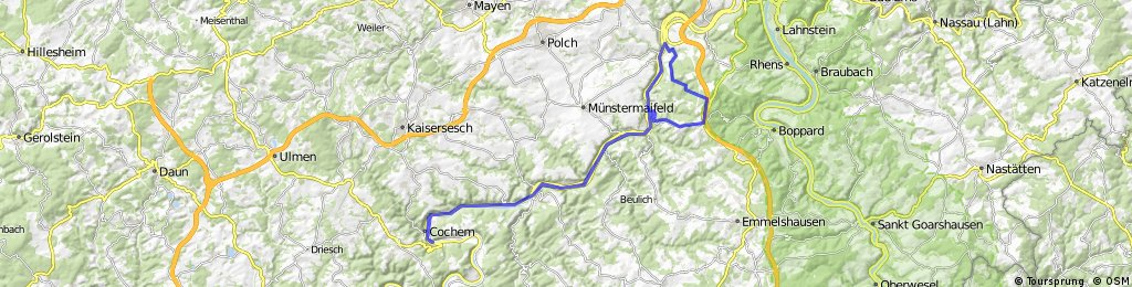Canyon-Stoppomat Mosel von Cochem