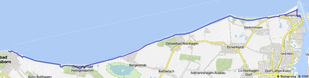 Ostseereadweg Kühlungsborn-Rostock