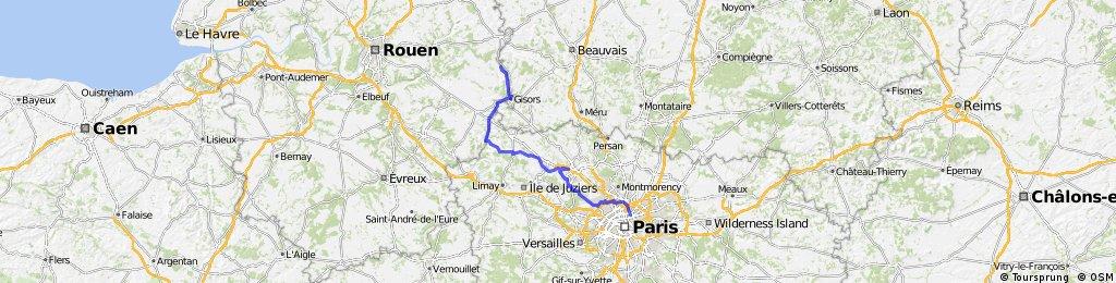 Paris - Londres -> Première étape